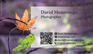 עיצוב כרטיס ביקור לצלם