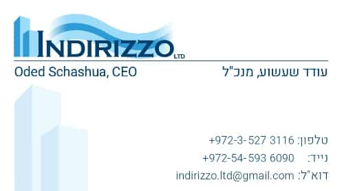 עיצוב כרטיס ביקור אינדיריזו