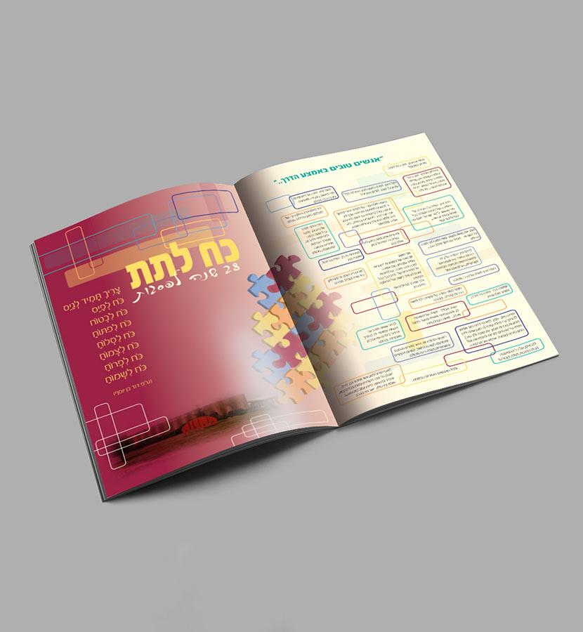 עיצוב חוברת תדמית ישוב